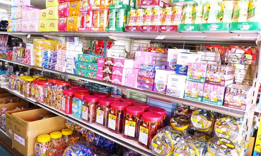 駄菓子の展示